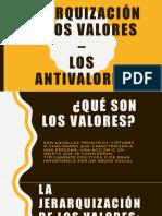 Jerarquización de Los Valores