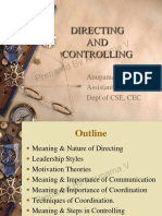 M.E module 2 directing and controlling
