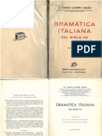Gramática italiana. De Camilo Llovera Majem