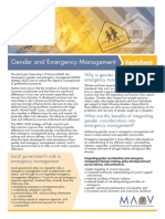 Gender and Emergency Management Fact Sheet