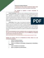 Interpretación Del Primer Artículo de La Constitución Mexicana