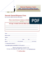 Ad Journal Banquet 2019 Prices and Ad Response Form