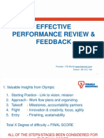 Effective Performance Review & Feedback