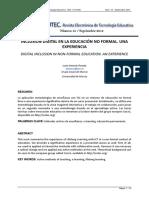 Inclusión digital en la educación no formal