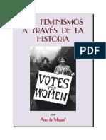 2-De Miguel-Los Feminismos a Traves de La Historia