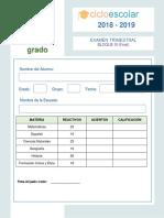 6 GRADO Examen Trimestral Sexto Grado Bloque3 2018-2019