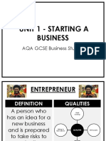 Unit 1 - Starting a Business.ppt