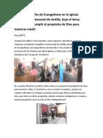 Desarrollan Culto de Evangelismo en Antilla