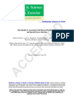 Diet Quality Physical Performance and Especial Forces