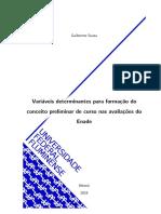 Variáveis determinantes para formação do conceito preliminar de curso nas avaliaçãoes do Enade