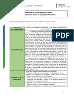 Secuencia Interdisciplinaria EJEMPLO