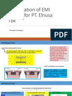 Presentation of EMI Project for PT.Elnusa