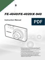 FE-4040 FE-4020 X-940 Instruction Manual En