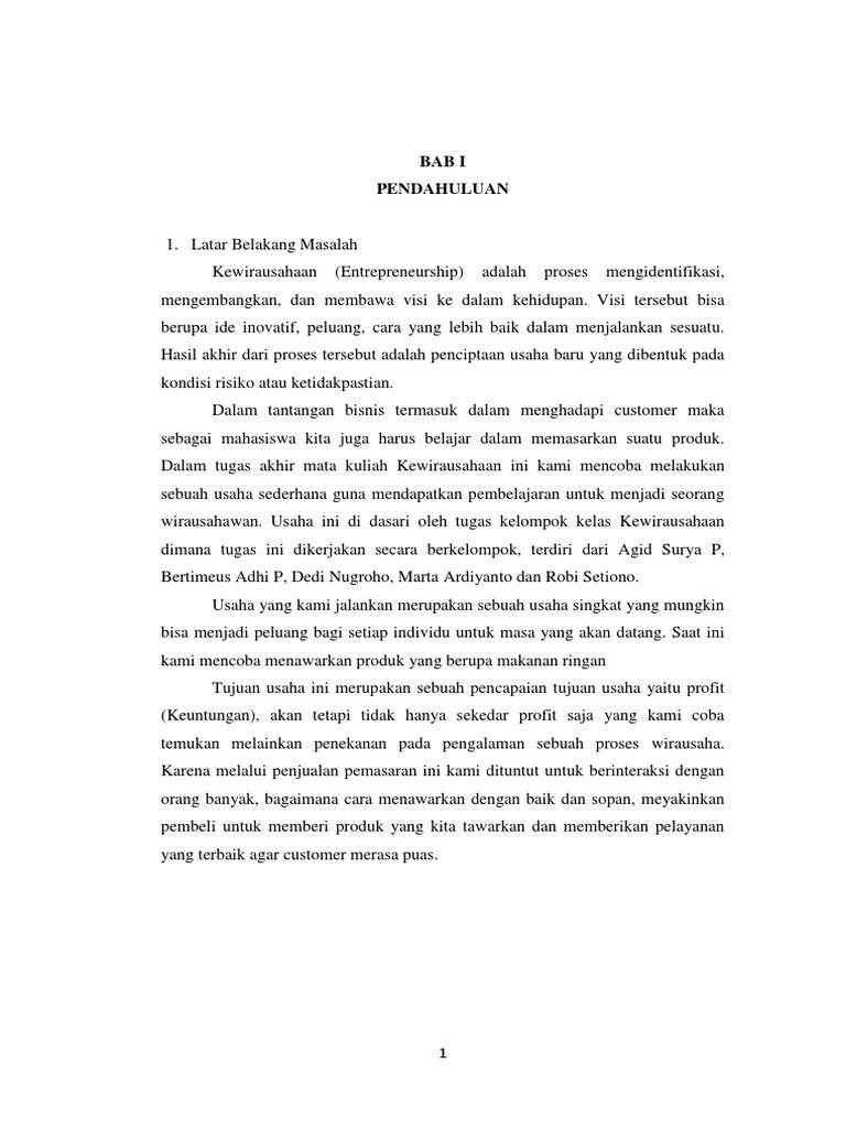Doc Laporan Kewirausahaan Jadi Docx Sinay Ramadhani Academia Edu