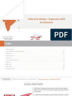 India Solar Market Update - Whitepaper by Mercom India Research (Sep 2019)