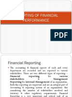 Reporting of Financial Performance