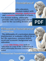 Philosophical Foundations of Curriculum
