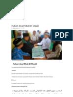 Hukum Akad Nikah Di Masjid _ Konsultasi Agama Dan Tanya Jawab Pendidikan Islam