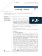 Organizing a Startup Factory