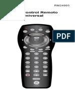 Manual control remoto universal GE