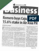 Manila Standard, Oct. 10, 2019, Romero buys Cojuangco's 15.6% stake in Air Asia PH.pdf