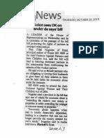 Manila Standard, Oct. 10, 2019, Solon sees OK on ander de saya bill.pdf