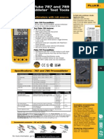 Fluke 787 and 789 Process Meter Datasheet