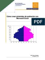 Cómo hacer una pirámide de población con microsoft excel