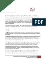 Statement Green Paper OPFVB