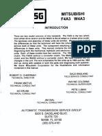 Mitsubishi F4A3 auto gearbox