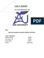 Spectrum analyzer and audio amplifier with filters