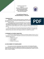 Remedial Reading Accomplishment Report