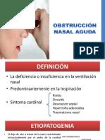 Obstrucción Nasal Aguda
