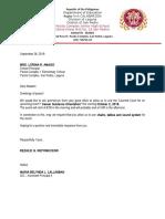 Letter Venue Reservation