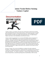 Documentation Needed Before Seeking Venture Capital.docx