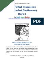 Past Perfect Progressive Story 3