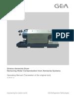 Grasso Ammonia Dryer