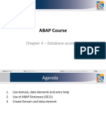 ABAP Course - Chapter 4 Database Accesses Ver 2