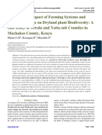 Assessing the impact of Farming Systems and Land use change on Dryland plant Biodiversity