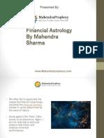 Financial Astrology by Mahendra Sharma