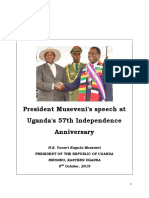 President Museveni Speech Independence 2019