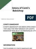 Contis Bakeshop Report
