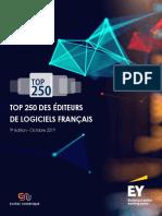 Top 250 Des Éditeurs de Logiciels Syntec Numérique EY_oct 2019