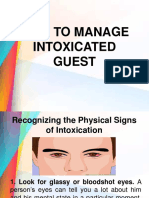 how to manage intoxicated guest