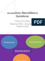 Antibióticos macrolídeos e quinolonas