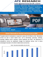 Global Telemedicine Market and Forecast to 2026