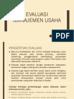 Evaluasi Manajemen Usaha