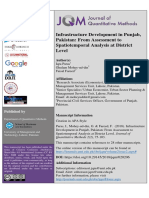 Infrastructure Development and Spatiotemporal Analysis