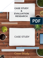 Case Study & Evaluation Research