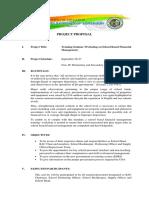 Training Proposal Donsol